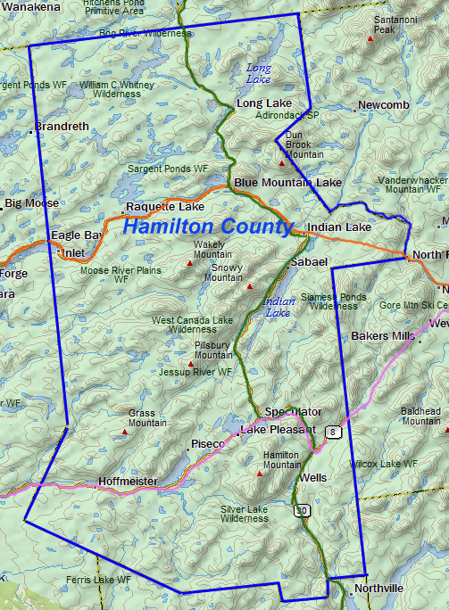 Hamilton County: Wholly within the Park - Totally Adirondack ...